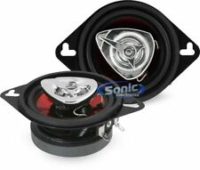 "2) New BOSS CH3220 3.5"" 2-Way 140W Car Audio Coaxial Speakers Stereo Red PAIR"