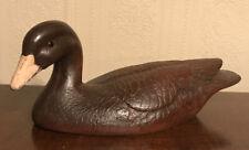 Vtg Don Eisenschenk Handcrafted Wood Duck Decoy #109 Canadian Goose Glass Eyes