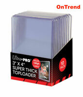 Ultra Pro Clear Thick 180pt TOPLOADER x 10 Rigid Card Protector TOP LOADER 3x4