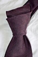 "$250 NWT TOM FORD PLUM herringbone 3.75"" men's 55% Cashmere 45% silk tie Italy"