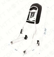 Flame Detachable Backrest Sissy Bar Chrome For Harley 00-later FXST FXSTB FXSTS