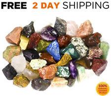 2LB CRYSTAL MIX Rough LOT Stones Raw Natural Assorted INDIA MIX Bulk Rare LARGE