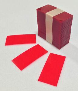 "2.5"" x 1.22"" Retail Red Transparent Plastic Shelf Strips 1500pcs Gondola Shelf"