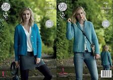 King Cole 4745 Knitting Pattern Womens Easy Knit Cardigans in Merino Blend DK