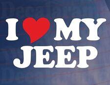 Car Sticker I Love Heart My Jeep Novelty Window Bumper Boot Door Bonnet Decal