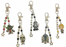STAR WARS THEMED BAG CHARMS,  PLAIN or PERSONALISED & CHOICE OF CHARM FREE POST