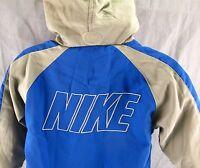 Nike Windbreaker Jacket Youth 12M Kids Wind Coat Track Gray & Blue 12 Months