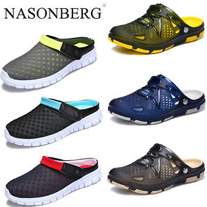 Mens Summer Casual Flat Beach Clogs Garden Sandals Slippers Pool Water Shoes UK