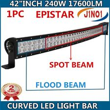 "42""IN 240W LED LIGHT BAR CURVED EPISTAR SPOT&FLOOD COMBO BEAM TRUCK OFFROAD LAMP"