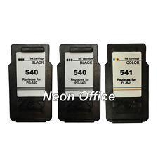 2x PG540 Black & 1x CL541 Colour Ink Cartridge For Canon PIXMA MG3600 Printer