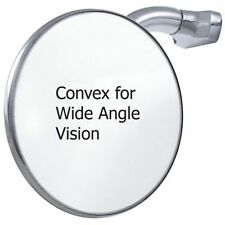 "Convex 4"" Peep Mirror Stainless Steel Round Curved Arm Clip On Door Hot Rod"