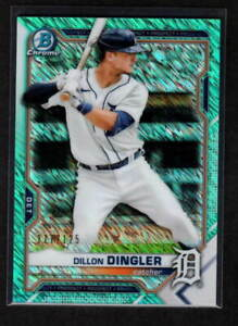 DILLON DINGLER 2021 BOWMAN CHROME AQUA SHIMMER 117/125 DETROIT TIGERS