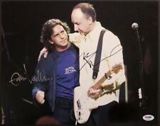 Eddie Vedder and Pete Townshend Autographed Photo both signed PSA  Who Pearl Jam