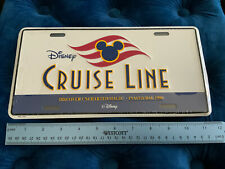 Disney Cruise Line Inaugural License Plate - Discover Uncharted Magic 1998 New