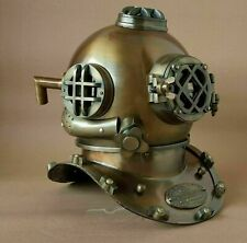 "Antique 18"" Diving Vintage Boston Mark Morse Navy Deep Sea Divers Helmet Replica"