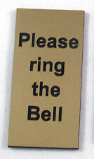 """1"""" x 2"""" Please Ring the Bell door sign, 26 colours to choose from"""