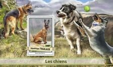 Togo 2017 MNH Dogs Malinois Dog Border Collie German Shepherd 1v S/S Stamps