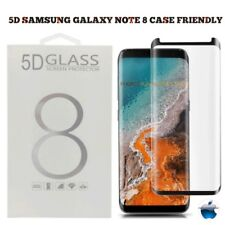 Samsung Galaxy NOTE 8 [Case Friendly] 5D TEMPERED GLASS Screen Protector - Black