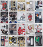 Game Used Jersey Numbered Cards - Choose From List SPx Upper Deck NHL Hockey
