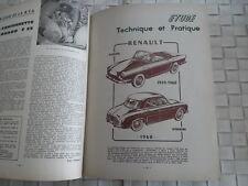 REVUE TECHNIQUE FLORIDE 1959-1960 ET DAUPHINE GORDINI 1960