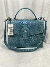 Brahmin Croc Emboss Leather Astral Melbourne Gabriella Satchel Handbag NWT $345