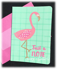 TARGET One Spot Just A Note Flamingo Pink Blank Single Card For Planner Addicts