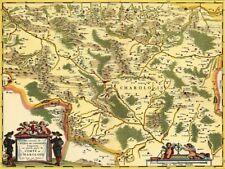 Reproduction carte ancienne - Comté de Charolais XVIIè