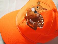 Deer Bright Orange Hunting Baseball Cap Hat