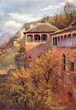 SPAIN. Granada-Tocador de la Reina 1908 old antique vintage print picture