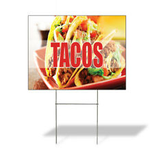 Weatherproof Yard Sign Tacos A Outdoor Advertising Printing Lawn Garden