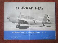 1950'S DEPLIANT PUBLICITAIRE AVION AISA I-115 TRAINER AIRCRAFT SPANISH AIR FORCE