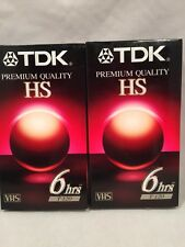 Two New Unopened TDK Premium Quality HS T-120 VHS Tapes 6 Hours