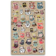 CUTE OWL STICKERS Sheet Bird Animal Korean Paper Kid Craft Scrapbook Sticker NEW