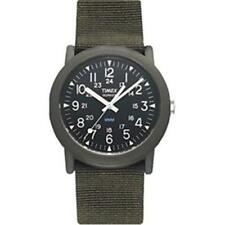 Timex T41711 Nylon Strap Water Resistant Camping Wrist Watch Luminous Hand Green