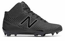 New Balance Men's Mid-Cut Burn X Lacrosse Cleat Shoes Black