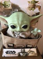 "Star Wars The Mandalorian Baby Yoda The Child 11"" Talking Plush w/Bag NEW!"