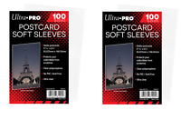(200 - 2 Packs) Ultra Pro Standard Postcard Sleeves Archival Acid Free No PVC