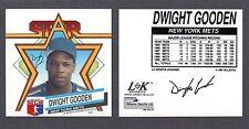 1992  Dwight Gooden  NEW YORK METS  LK SPORTS MUG DECAL  NM-MT