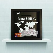 Personalised Travel Ticket holder, travel ticket collection, travel shadow box