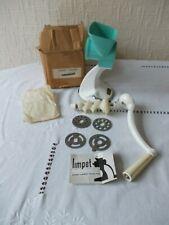 More details for vintage turquoise harper limpet superb mincer, meat grinder