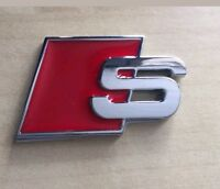 Logo S Audi SLine Metal Emblema Sticker Badge Adhesivo 3M