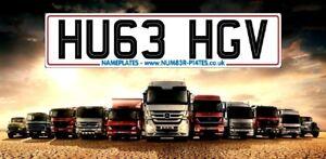 HU63 HGV, HUGE, HGV, BIG, TRUCK, Cherished Number, Private Reg Plates, Lorry