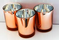 10 Copper Candle Wedding Event Anniversary Tealight votive holder table decor