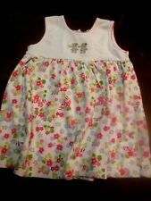 Kissy Kissy Toddler Girls Dress & Bloomers, 12-18M, Pima Cotton, Flowers & Frogs