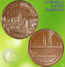 Freedom Tower 1 oz .999 Copper Round Rare and Limited No Longer in Mint