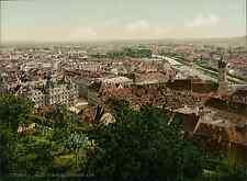 Steiermark. Graz vom Schlossberg aus.   PZ vintage photochromie, photochrom ph