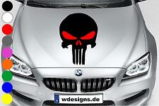 WD Autoaufkleber THE PUNISHER TOTENKOPF ROT Aufkleber Motorhaube Sticker Schädel