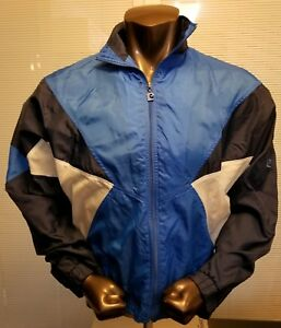 Vintage Pierre Cardin Men's Multi-Color Nylon Windbreaker Size Medium Retro 90s