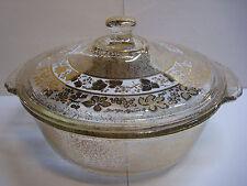 Georges Briard - Fire King - Elegant 2 Qt Casserole Dish - Gold Specks & Grapes