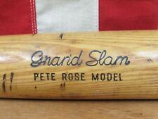 "Vintage Hillerich & Bradsby Wood 'Grand Slam' Baseball Bat Pete Rose Model 34"""